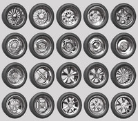 Car Wheels Rims Pack 1 and 2