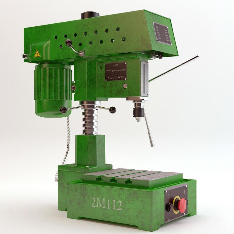 drilling machine 3d max
