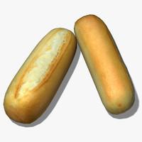 3d mini baguette model
