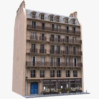 france tenement 3d model