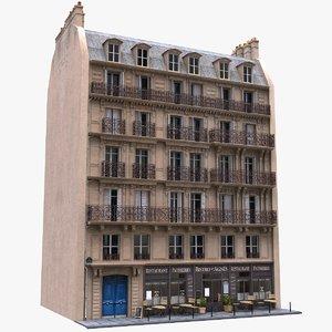 france tenement 3d model