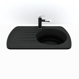 sink granite metal 3d model