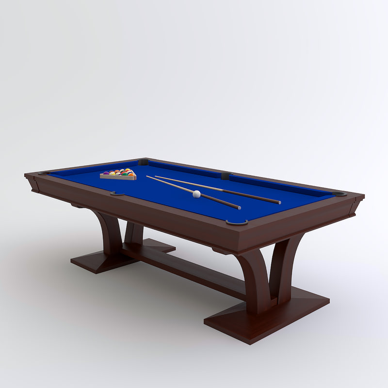 pool table 3d max. Black Bedroom Furniture Sets. Home Design Ideas