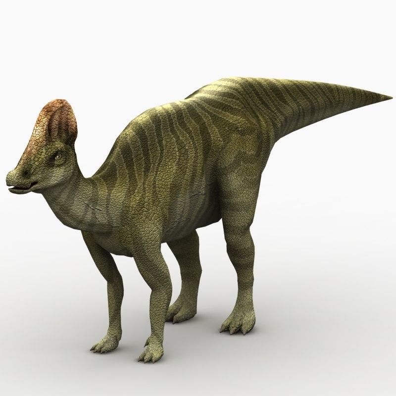 3d corythosaurus dinosaur animation model