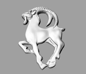3d zodiac capricorn pendant model