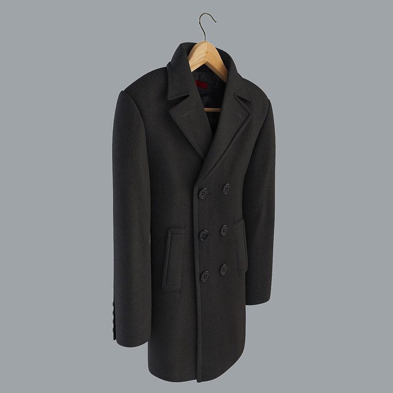 3d model men s coat