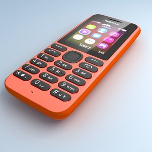 nokia 103 red 3d model
