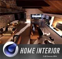 house interior 3d c4d