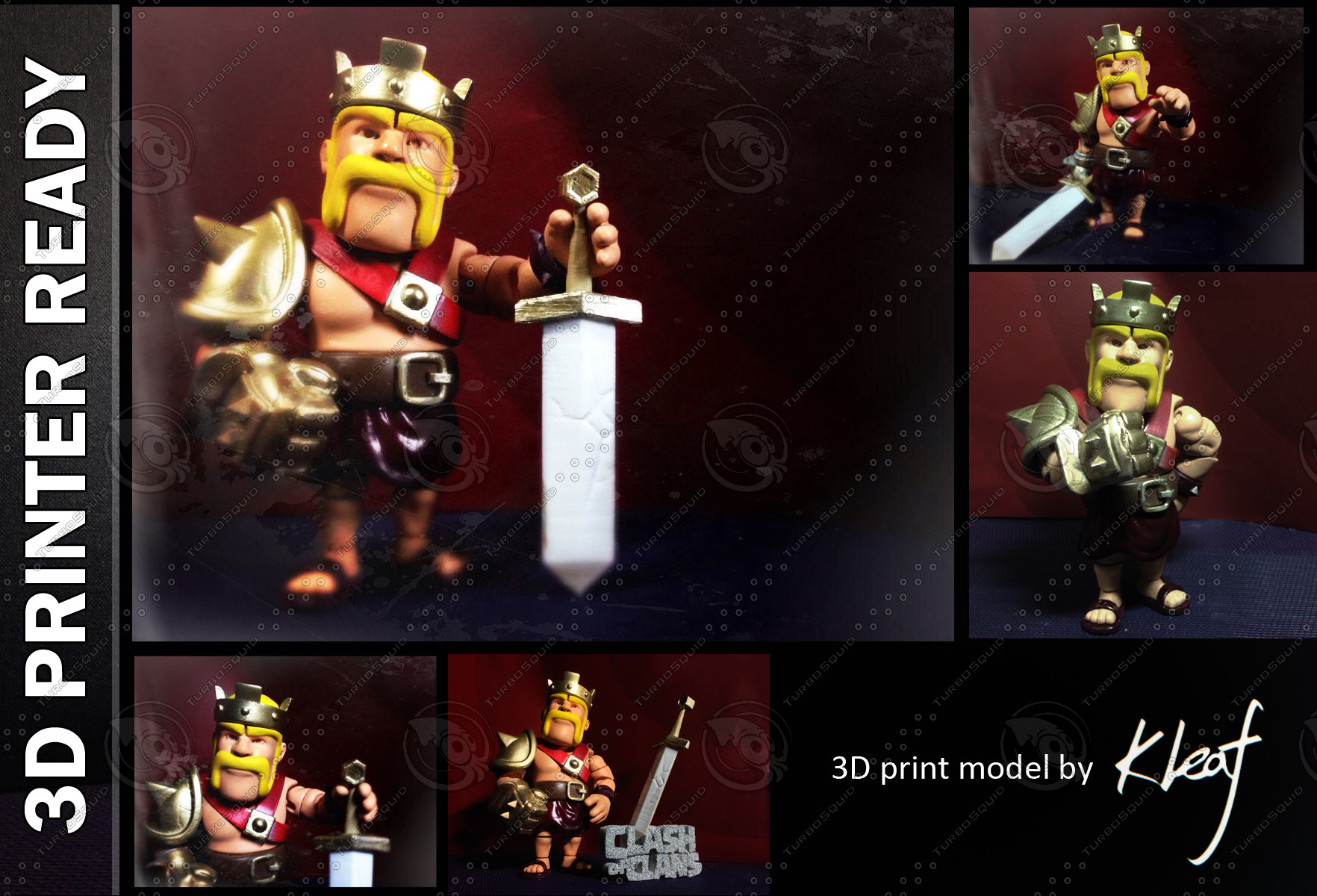 printable barbarian king 3d model
