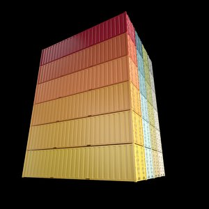 3d 40ft containers 1 model
