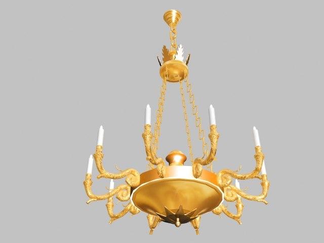 chandelier unite 3d model
