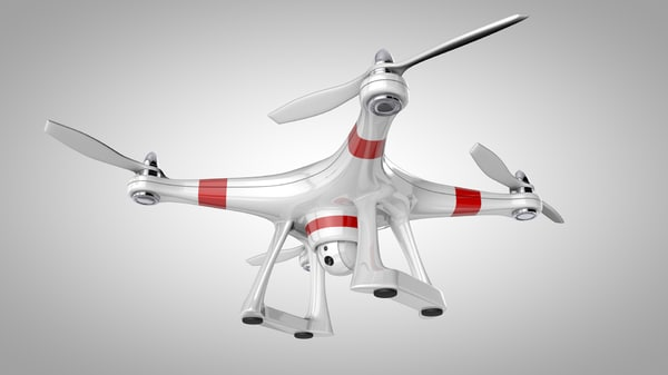 c4d quadcopter drone