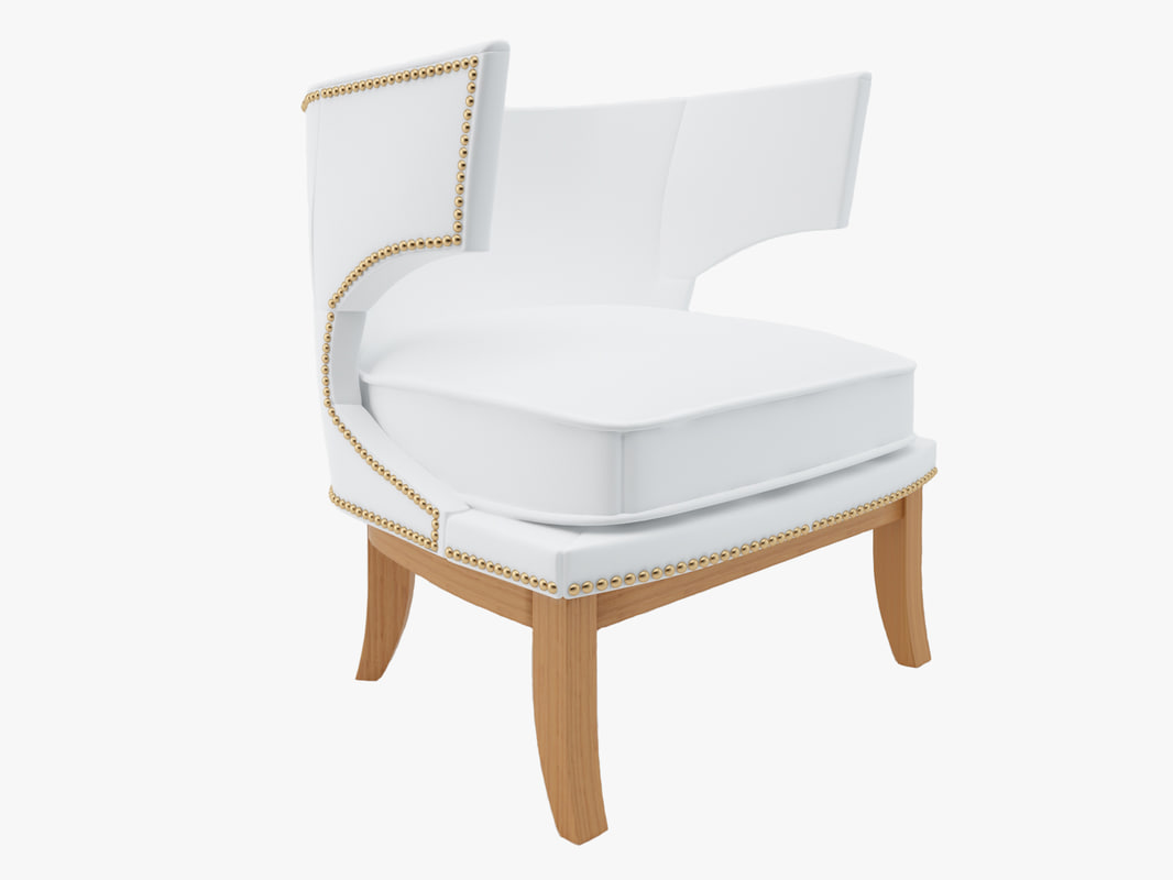 napoli wingback leather chair 3d ma