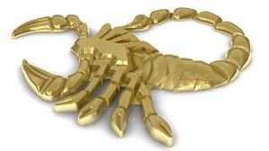3d model zodiac scorpio pendant