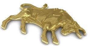 3d zodiac taurus pendant