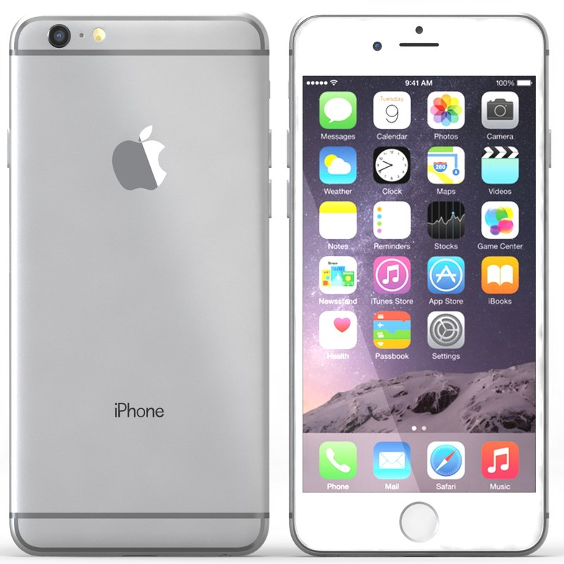 3dsmax iphone 6 silver
