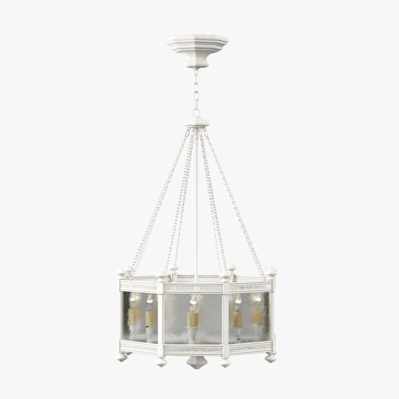 fine lamps black white 3d model