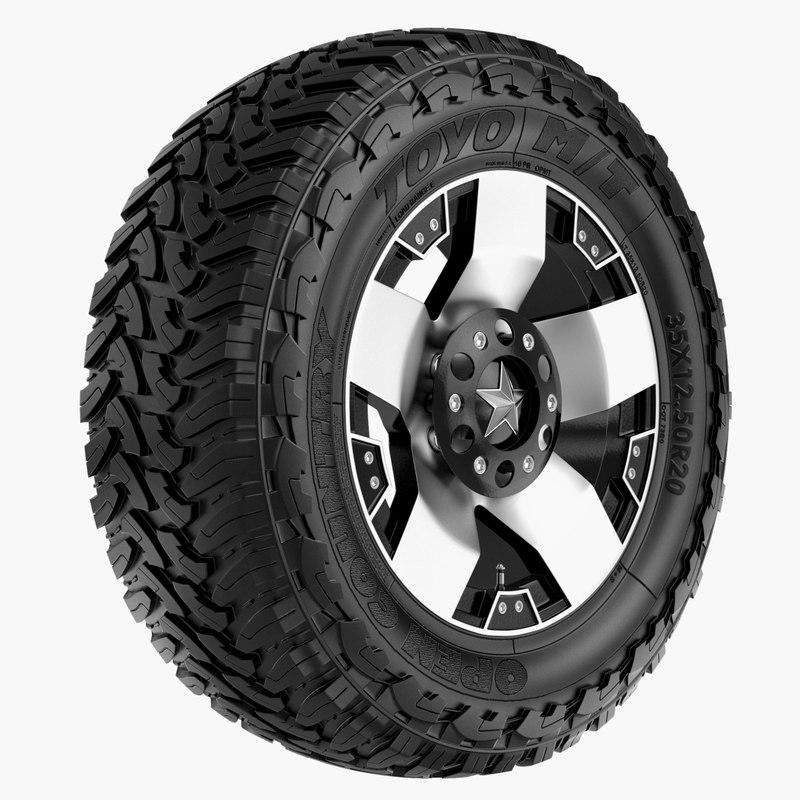 road toyo rockstar rim wheel 3d model