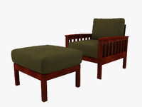 3ds max tribecca home hills chair