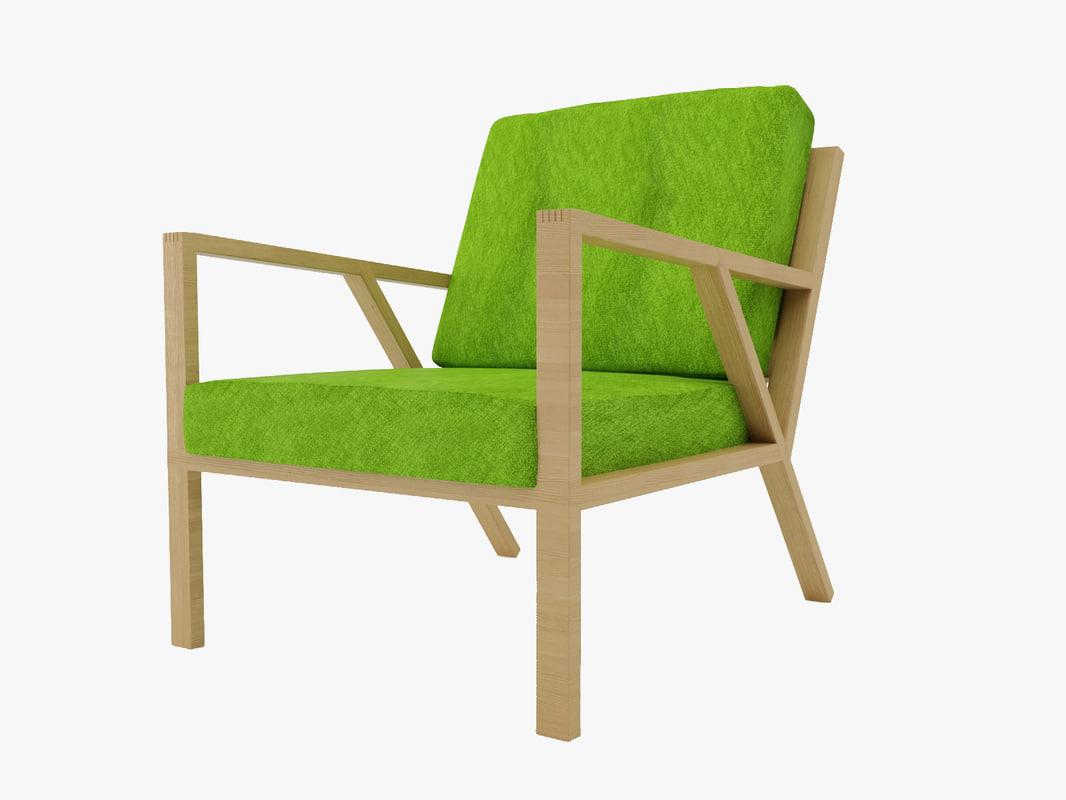 truss chair 3d model