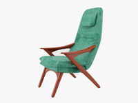 turquoise chair obj