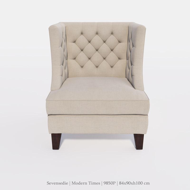 3d model seven sedie 9850p for Sedie design 3d