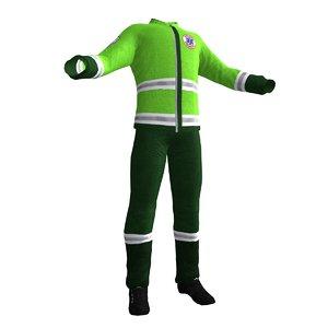 paramedic uniform 3 3d obj