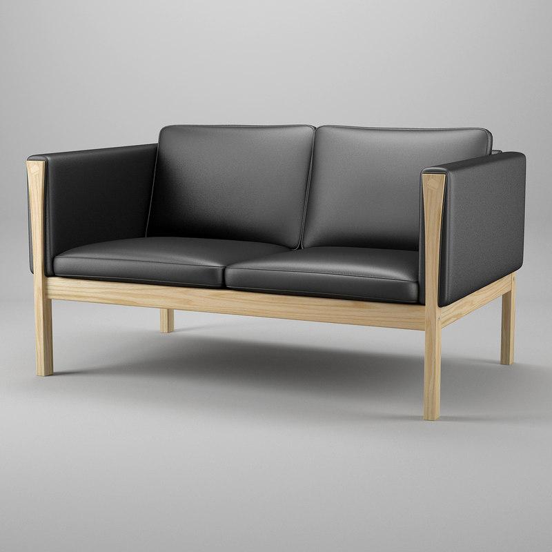 3d model sofa hans j wegner