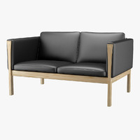 3d model sofa hans j wegner