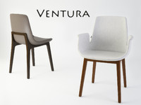 3ds max ventura dining chair poliform