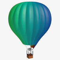 hot air balloon 3d c4d