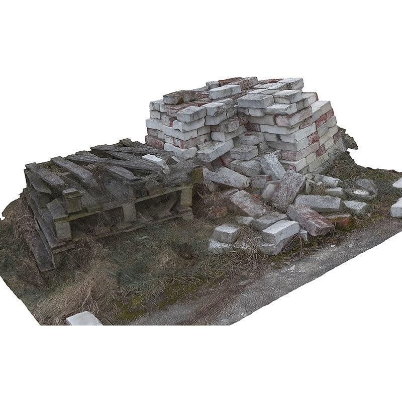 3d bricks heap