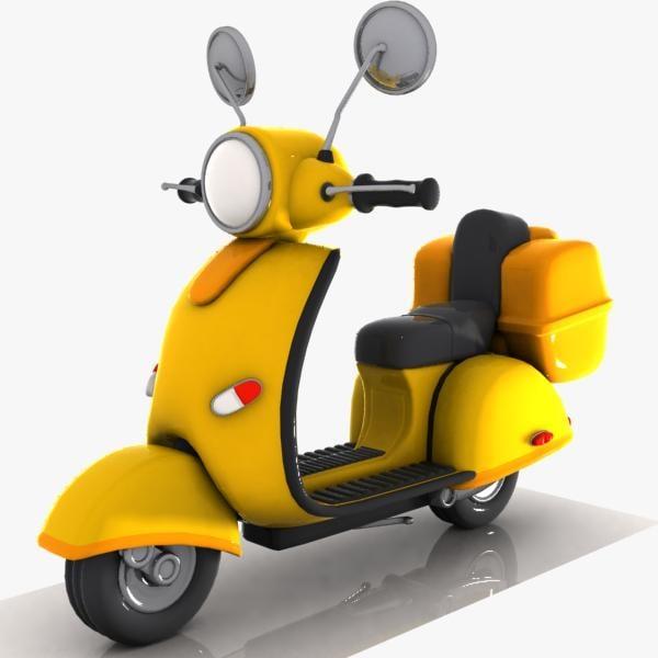 cartoon motorcycle cycle 3d max