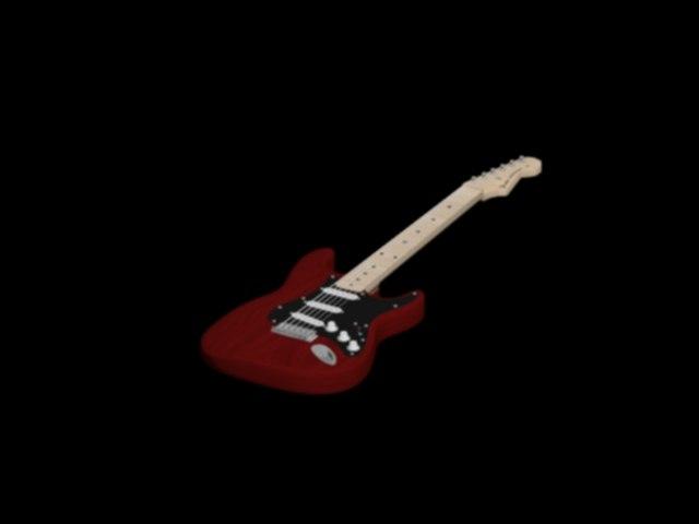 3d fender stratocasters model
