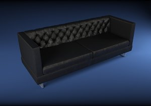 leather sofa 3d model