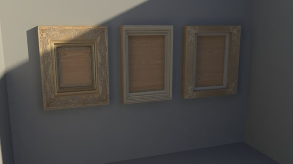 3 picture frames 3d ma