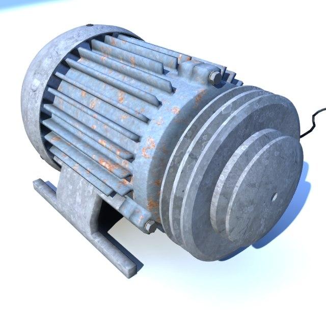 3d engine motor model
