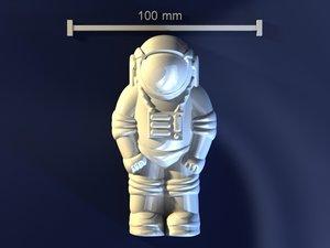 astronaut mold hand 3d obj
