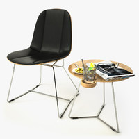 Bauhaus Chair and Side Table