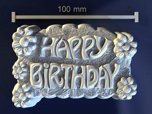 3d happy birthday model
