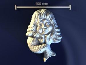 mermaid mold hand 3d model