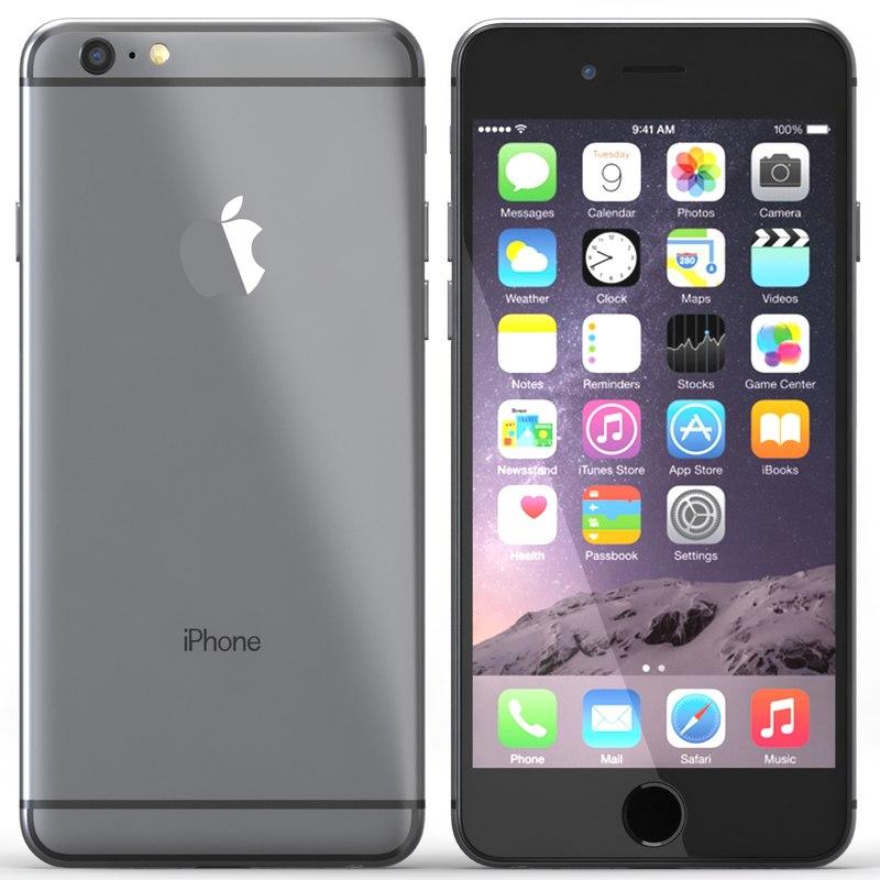 3d model iphone 6 black