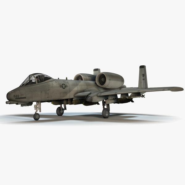 3d model a-10 thunderbolt ii