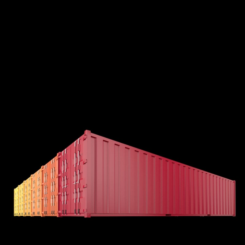 40ft containers 2 3d model