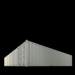 40ft containers 3 3d model