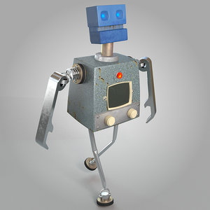 v-ray rigged biped 3d model