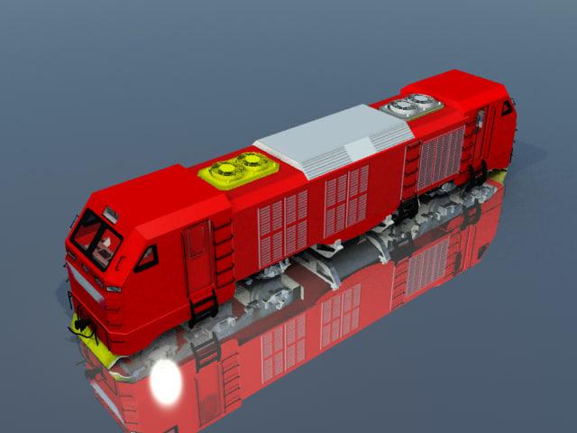 indonesia locomotive 3d model