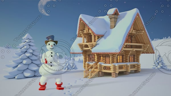 max christmas snow man 10