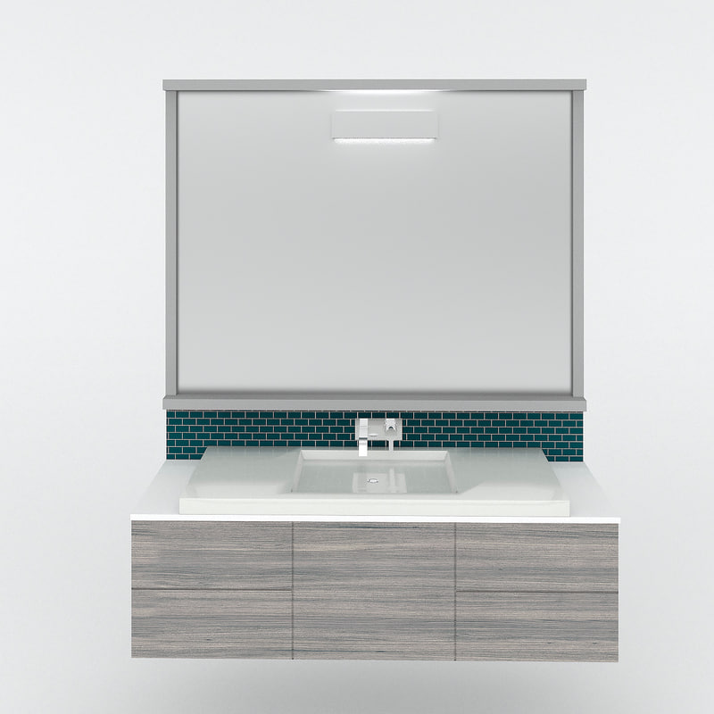 3d contemporary bathroom vanity