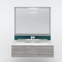 3d contemporary bathroom vanity